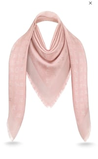Louis Vuitton Shine pink monogram shawl scarf