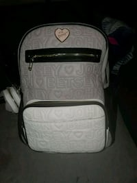 white and black leather backpack Reno, 89501