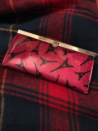 Long black and pink wallet
