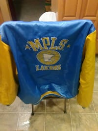 blue and yellow letterman jacket Rochester, 98579