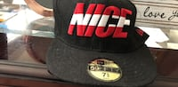 black, white, and red Nice-embroidered 59Fifty fitted cap Fairfax, 22031