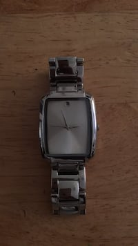 rectangular silver analog watch with link bracelet Los Angeles, 90037