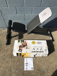 Brand new Gold's Gym XR 5.9 adjustable bench. Retails for $45.