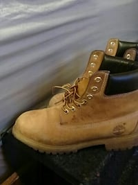 pair of brown Timberland work boots Frederick, 21703