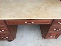 Large desk with marble top  Chesapeake, 23320