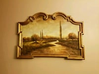 river and grass field painting with brown wooden frame Virginia Beach, 23464