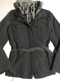 Gap Gray Quilted Coat sz Small