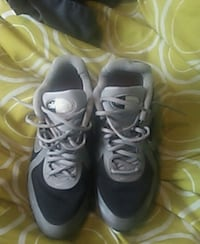 pair of gray Nike air max basketball shoes Chicago, 60652