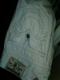 white True Religion denim bottoms Gatineau, J9H 6W2