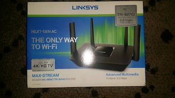 Linksys tri-band 5g wirelessrouter.