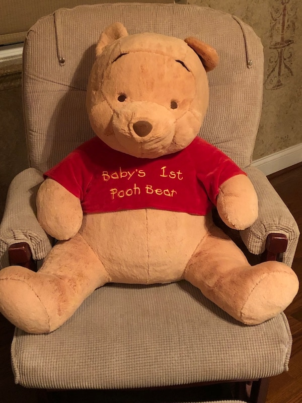 Soft Baby's First Pooh Bear and Pooh Holder
