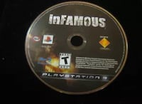 Infamous ps3 game disc has a preowned case