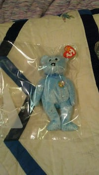 blue and white TY Beanie Baby bear plush toy Calgary, T1Y 4S6