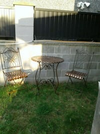 Outside table and 2 chairs fold up. Vancouver