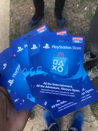 100 each one (PlayStationPlus cards) Alexandria, 22306