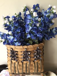 Basket with bluebonnets design Ashburn