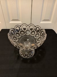 Vintage Pressed Glass Footed Bowl
