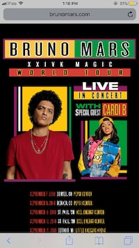 bruno mars tickets TORONTO