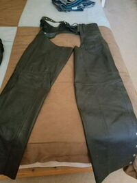 Leather Motorcycle jacket and chaps