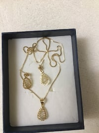 Real Gold Saudi Gold Necklace & Earrings Mississauga, L5R