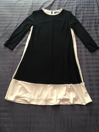 Black and white 3/4 sleeve A-Line Dress by Ralph Lauren Vaughan, L4L 5T5