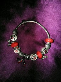 silver and red beaded bracelet Hollywood, 33020