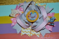 5.5 inch boutique stacked hair bow