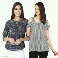 Unique Designer Crepe Women's Tops (Pack of 2) Noida, 201301
