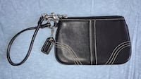 COACH Genuine Black Leather Wristlet