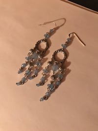 gray-and-blue drop earrings Pavilion
