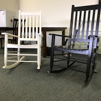 wooden rocking chairs either black or white Calgary, T2A 5T2