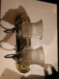 Gold and silver vanity light