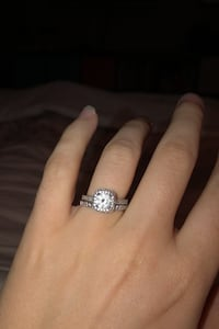 1.6 ct. CZ Engagement Ring and Wedding Band - Size 6/ 6.5 Surrey, V3S 1S5