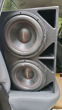 """Two 12"""" Q Power speakers with 4000 watt PA amp Charlotte"""