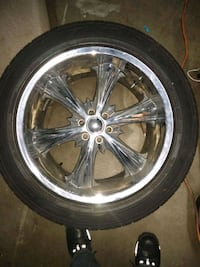 "4 Nice Chrome 20""inch Rims included all 4 Tires Lorton, 22079"