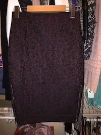 Wilfred black and red lace skirt  Mississauga, L5J 4B6