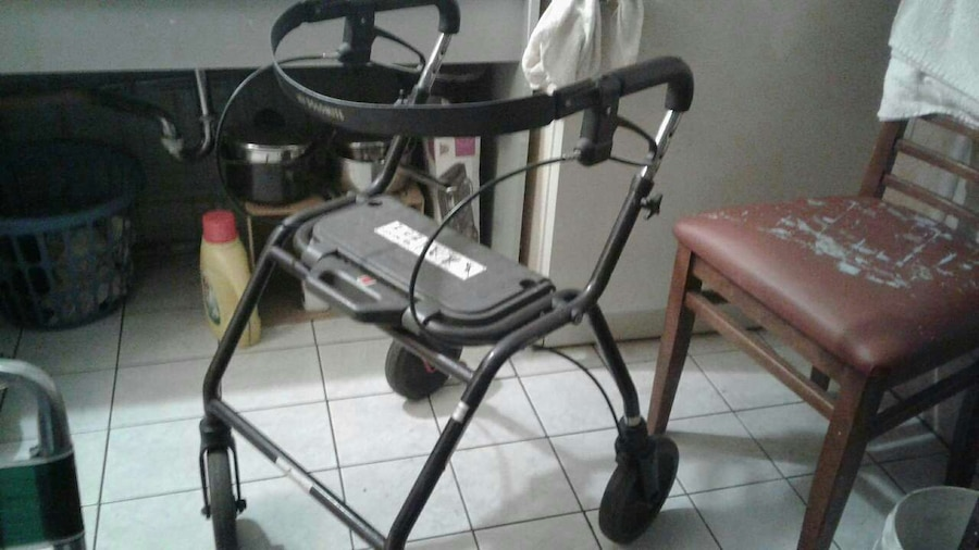 black and white rollator