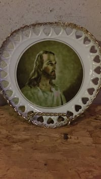 round white ceramic with religious printed decorative plate Fairview Heights, 62208