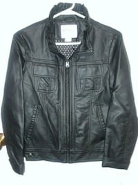 Girls leather jacket size 14new never wore