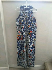 women's blue and red floral sleeveless dress Toronto, M3L 2C4