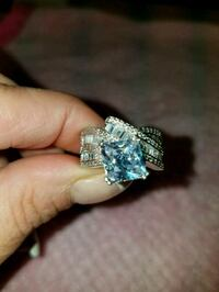 Sterling silver white sapphire ring size 7 Dundalk, 21222
