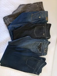 Lot of 5 Jean's for $50 or $10 each  Brampton, L6Z 2P7