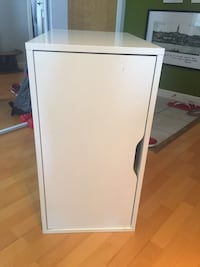 White wooden 2-door cabinet New Westminster, V3M 1A6