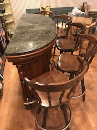 Marble style mini bar with 5 chairs included  Gaithersburg, 20882