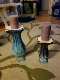 Beautiful Pier one Candle holders with candles