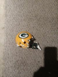 yellow and green Green Bay Packers football helmet