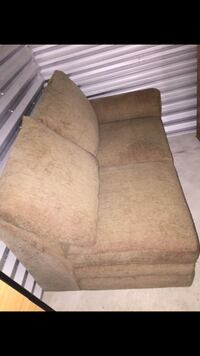 brown suede 2-seat sofa Woodinville