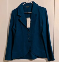 For Cynthia Size S Teal Blazer Jacket MSRP $98