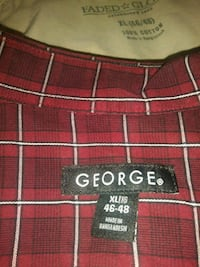 red and white plaid textile Rogers, 72756