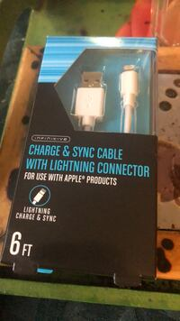 New in box charge and sun cable with Lightening Connector- 6 ft for use with Lightening Connector for use with Apple products  New York, 10021